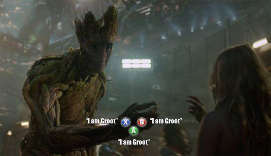 Photo humoristique de Les Gardiens de la Galaxie façon Telltale Games avec Groot