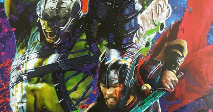 Poster promo art de Thor: Ragnarok avec Thor et Hulk