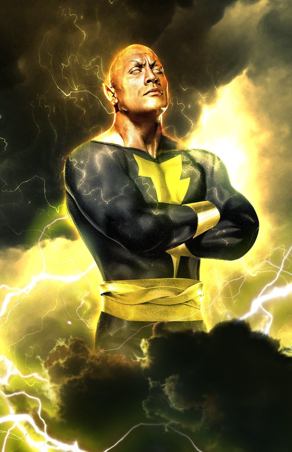 Fan art de Dwayne Johnson en Black Adam par BossLogic