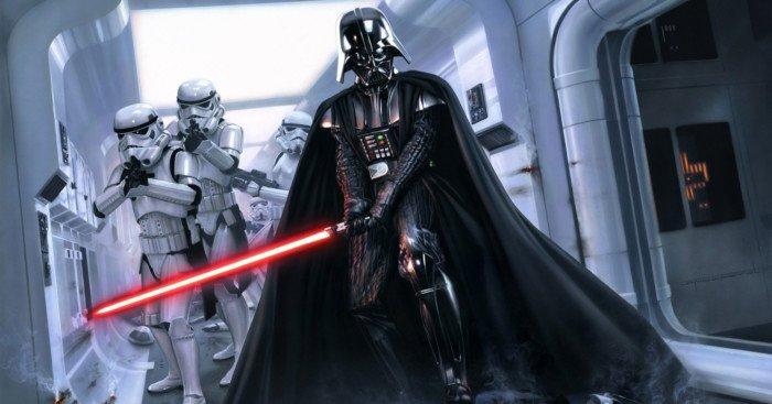 Image de Star Wars avec Dark Vador attaquant les Rebelles