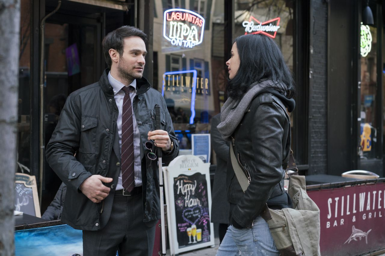 Photo de The Defenders avec Matt Murdock et Jessica Jones