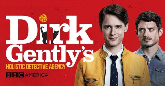 Bannière de la saison 1 de la série Dirk Gently, détective holistique