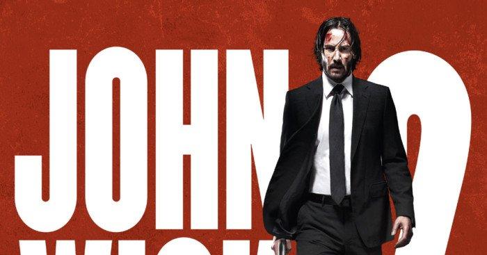Affiche française de John Wick 2 avec Keanu Reeves
