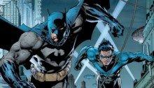 Image avec Batman et Nightwing, deux personnages emblématiques de DC