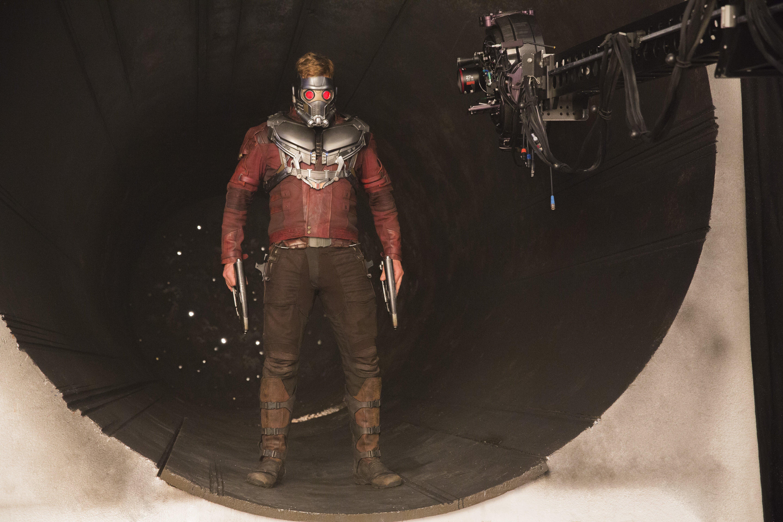 Les Gar ns de la Galaxie Vol 2 Tournage – Chris Pratt aka Star Lord