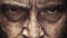 Poster du film Logan avec un gros plan sur le visage d'Hugh Jackman