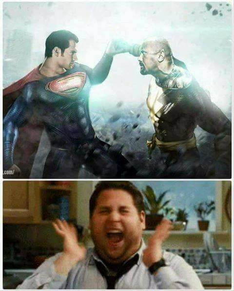 Photo de Superman (Henry Cavill) vs Black Adam (The Rock) par Bryanzap