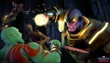 Image de Drax contre Thanos dans le jeu vidéo Guardians of the Galaxy: The Telltale Series