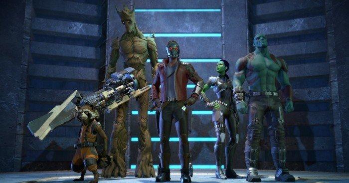 Image de l'équipe dans le jeu vidéo Guardians of the Galaxy: The Telltale Series