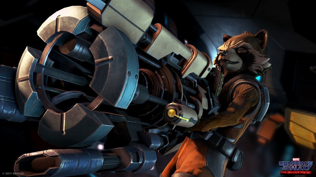 Image de Rocket dans le jeu vidéo Guardians of the Galaxy: The Telltale Series