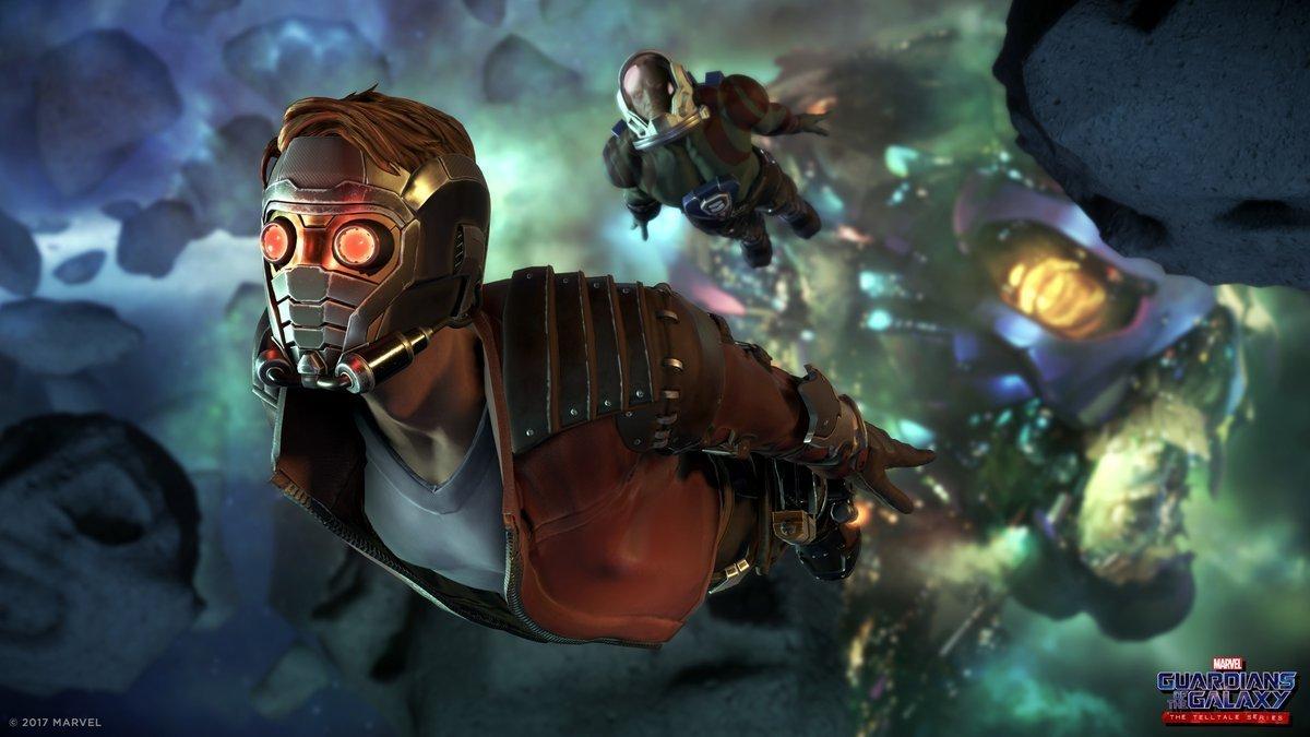 Image de Star-Lord et Drax dans le jeu vidéo Guardians of the Galaxy: The Telltale Series