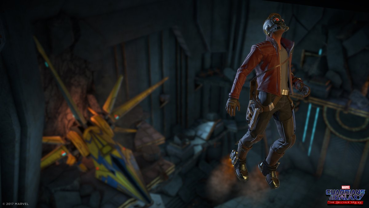 Image de Star-Lord dans le jeu vidéo Guardians of the Galaxy: The Telltale Series