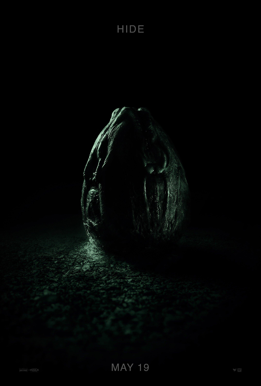 """Poster œuf pour Alien: Covenant avec la tagline """"Hide"""""""