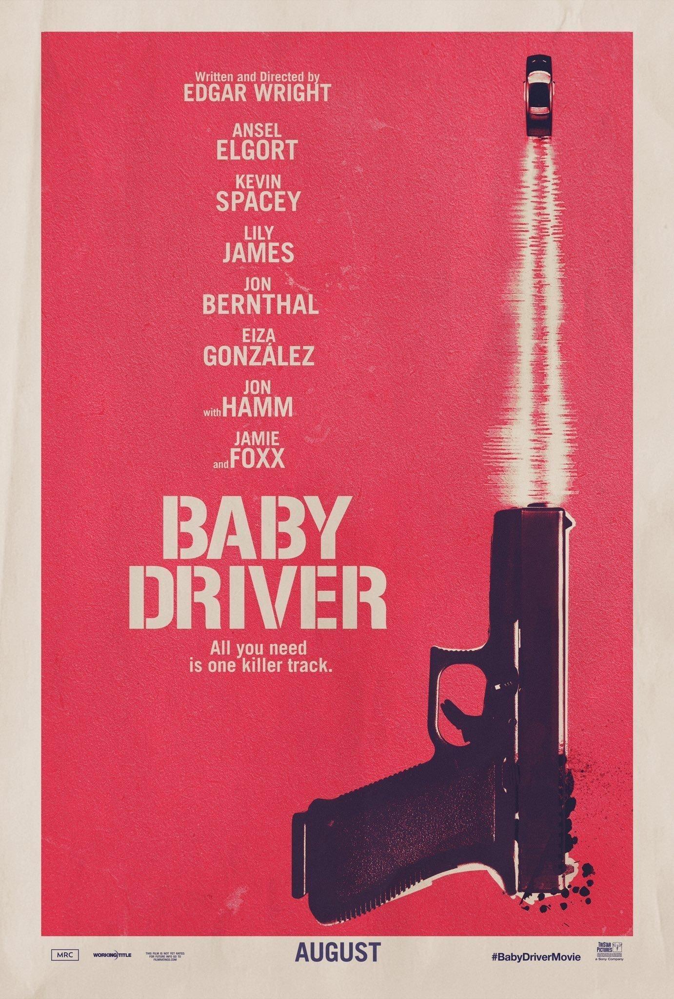 Poster teaser du film Baby Driver