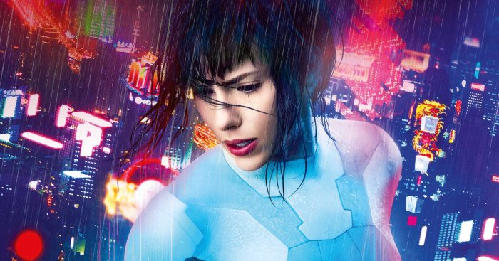 Affiche française du film Ghost in the Shell avec Scarlett Johansson