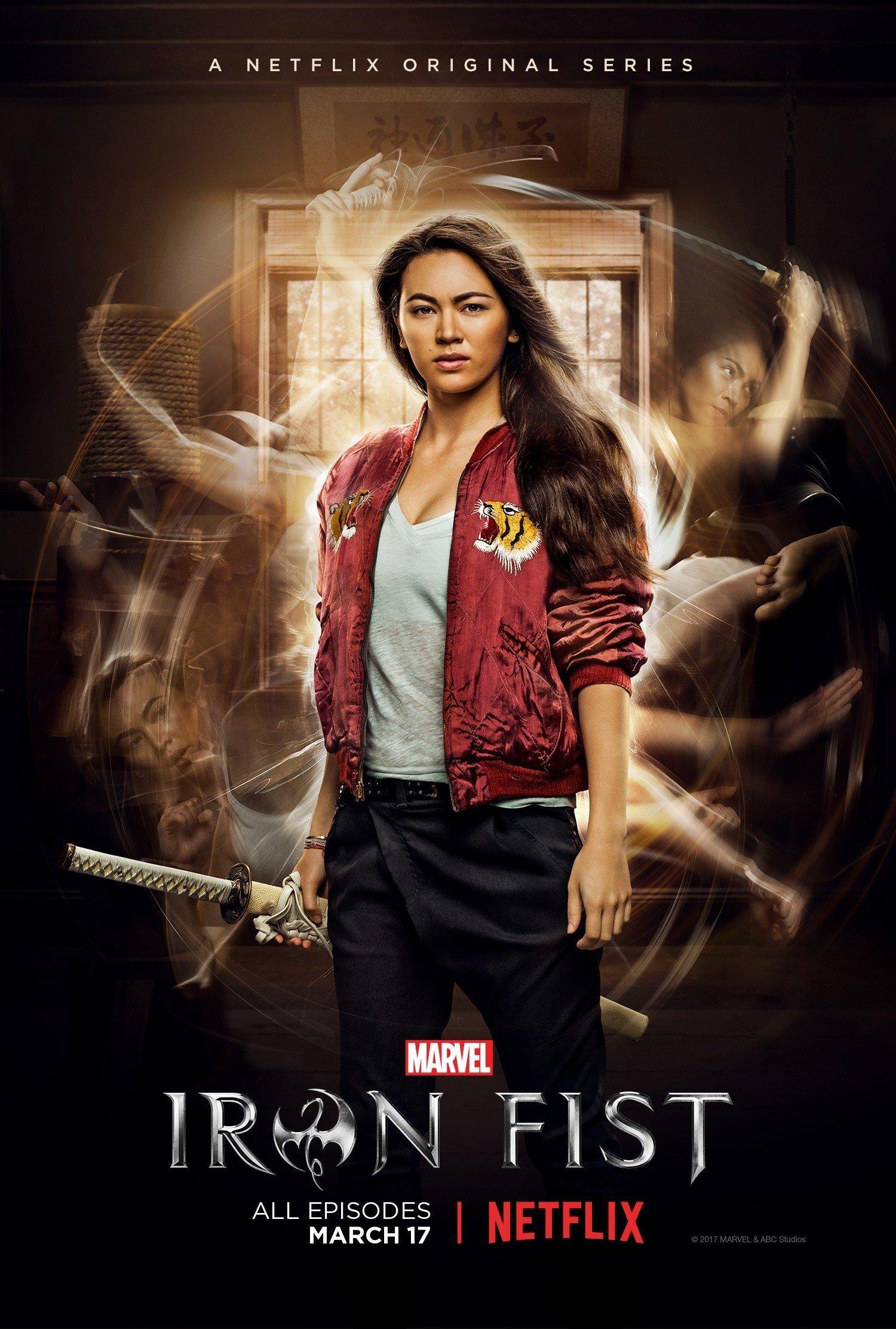 Poster de la saison d'Iron Fist avec Colleen Wing (Jessica Henwick)