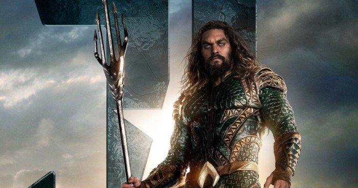 Poster d'Aquaman (Jason Momoa) pour le film Justice League