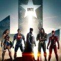 Poster du film Justice League avec Wonder Woman, Cyborg, Batman, Aquaman et Flash