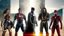Poster du film Justice League avec Wonder Woman, Cyborg, Batman, Aquaman et Flash