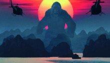 """Affiche frnaçaise de Kong: Skull Island avec la tagline """"Longue vie au roi"""""""