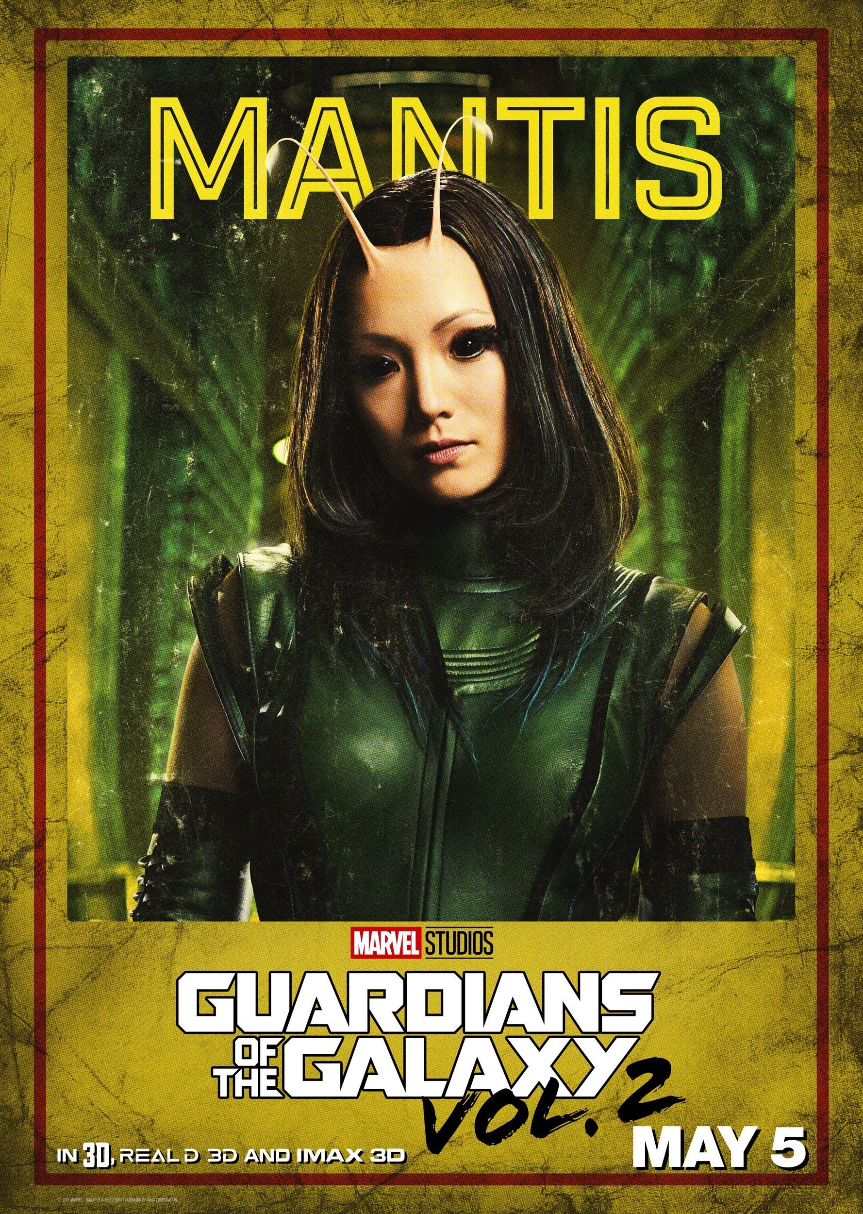 poster les gardiens de la galaxie vol 2 mantis pom klementieff. Black Bedroom Furniture Sets. Home Design Ideas