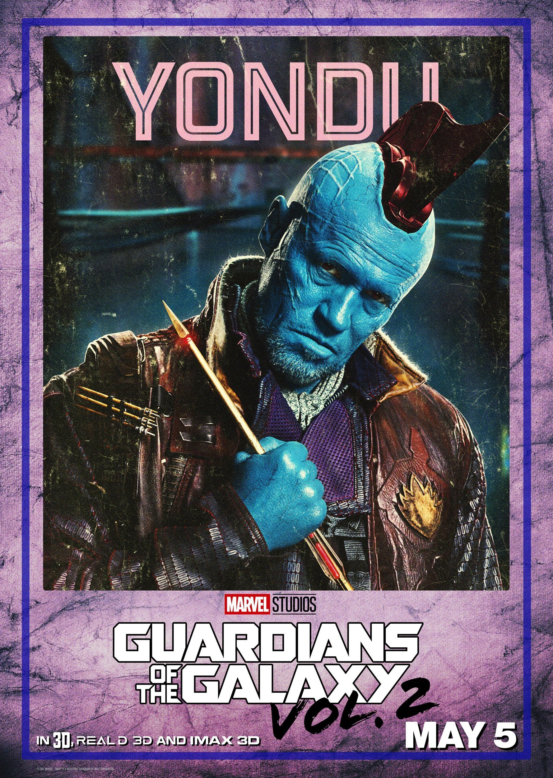 poster les gardiens de la galaxie vol 2 yondu michael rooker. Black Bedroom Furniture Sets. Home Design Ideas