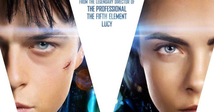 Poster du film Valérian et la Cité des mille planètes avec Dane DeHaan et Cara Delevingne