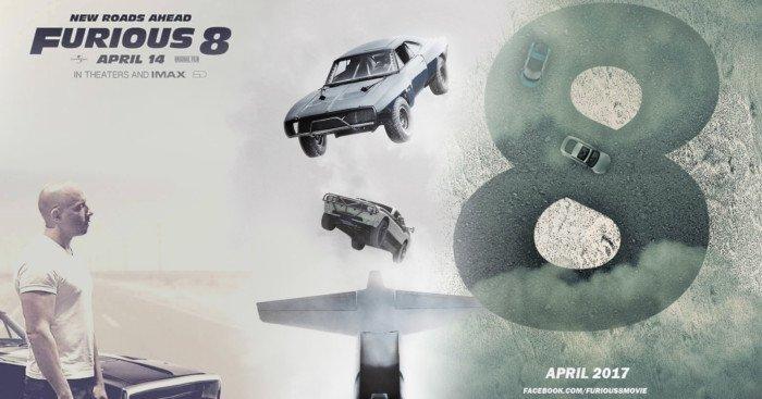 Bannière du film Fast & Furious 8 avec Vin Diesel