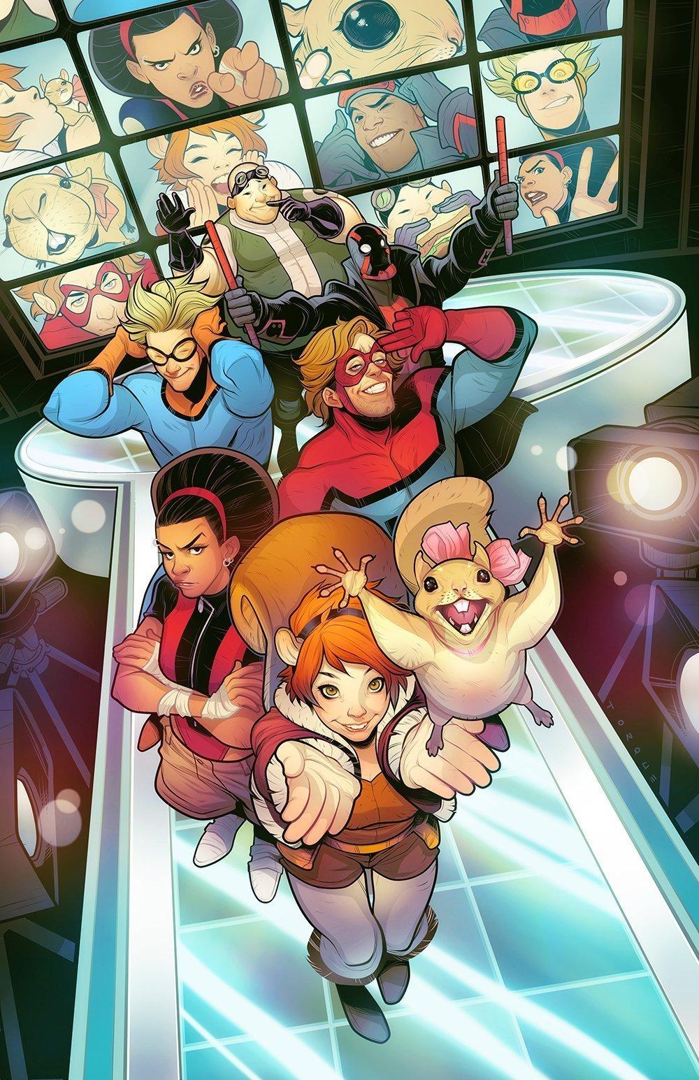 Image de l'équipe des New Warriors de Marvel Comics