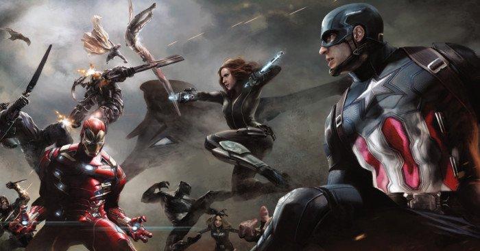 Concept art de la bataille de l'aéroport pour Captain America: Civil War