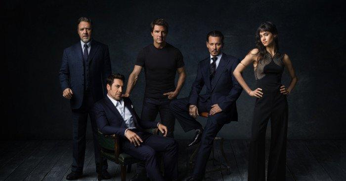 Photo des monstres du Dark Universe avec Russell Crowe, Javier Bardem, Tom Cruise, Johnny Depp et Sofia Boutella