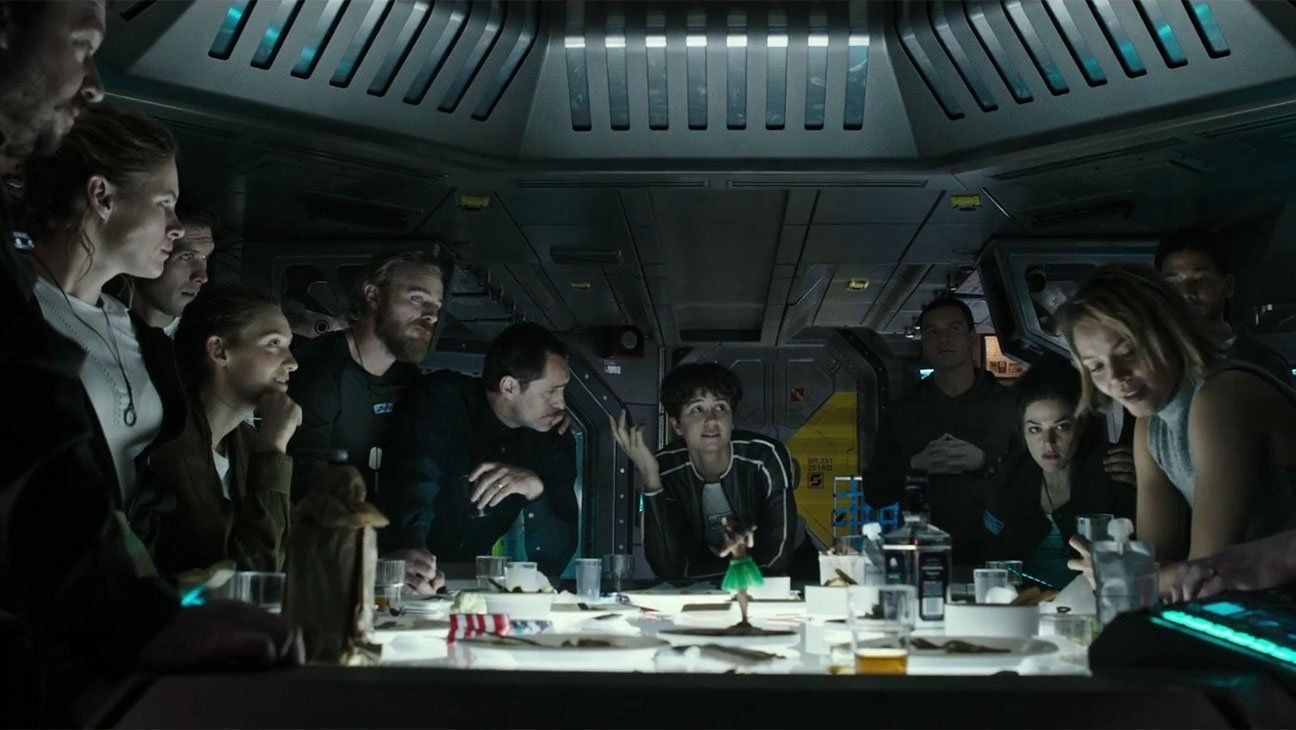 Photo d'Alien: Covenant avec l'équipage