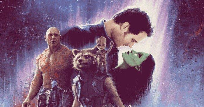 Poster de Matt Ferguson pour le film Les Gardiens de la Galaxie Vol. 2 façon L'Empire contre-attaque