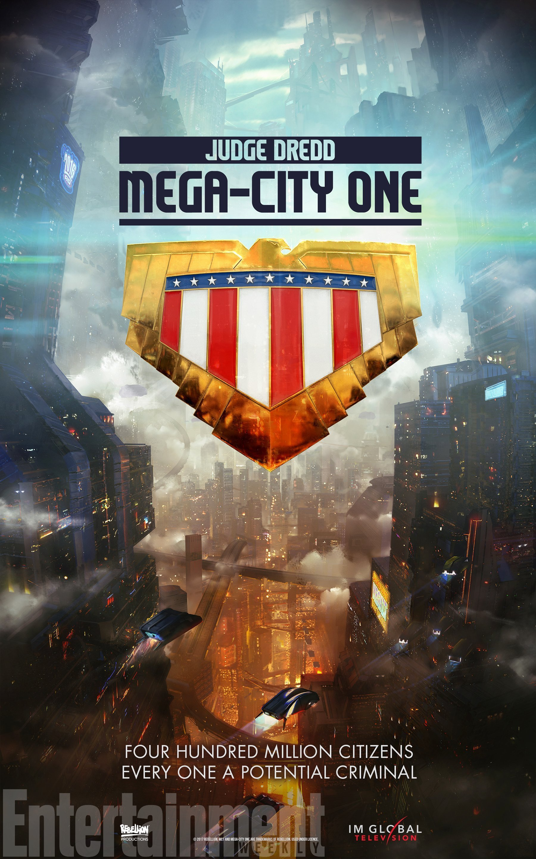 Poster teaser pour la série télé, Judge Dredd: Mega-City One