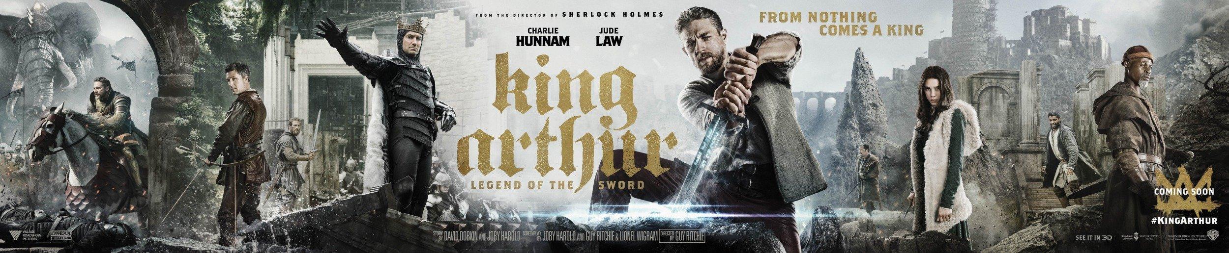 Bannière du film Le Roi Arthur: La Légende d'Excalibur