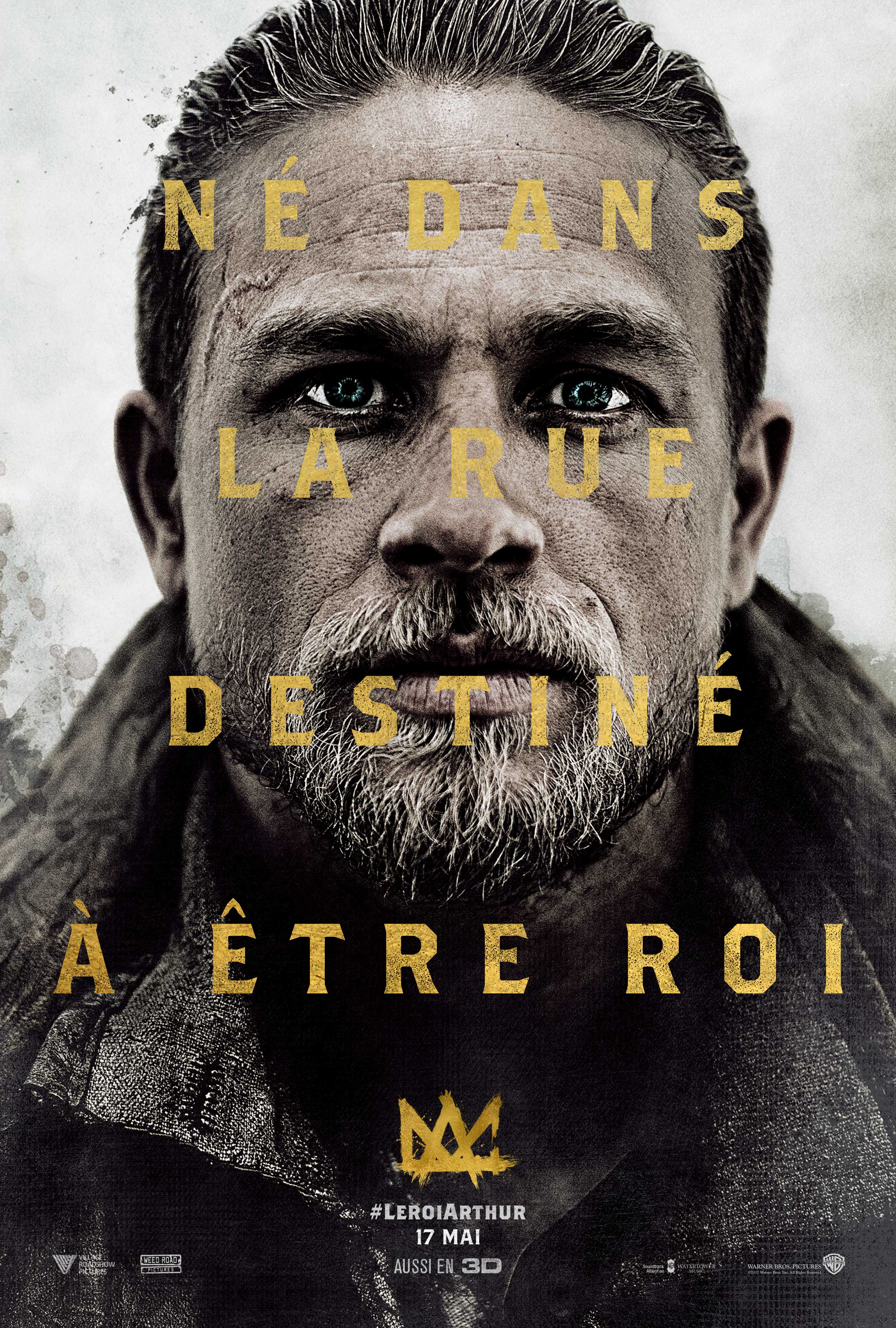 Affiche du film Le Roi Arthur: La Légende d'Excalibur avec Charlie Hunnam
