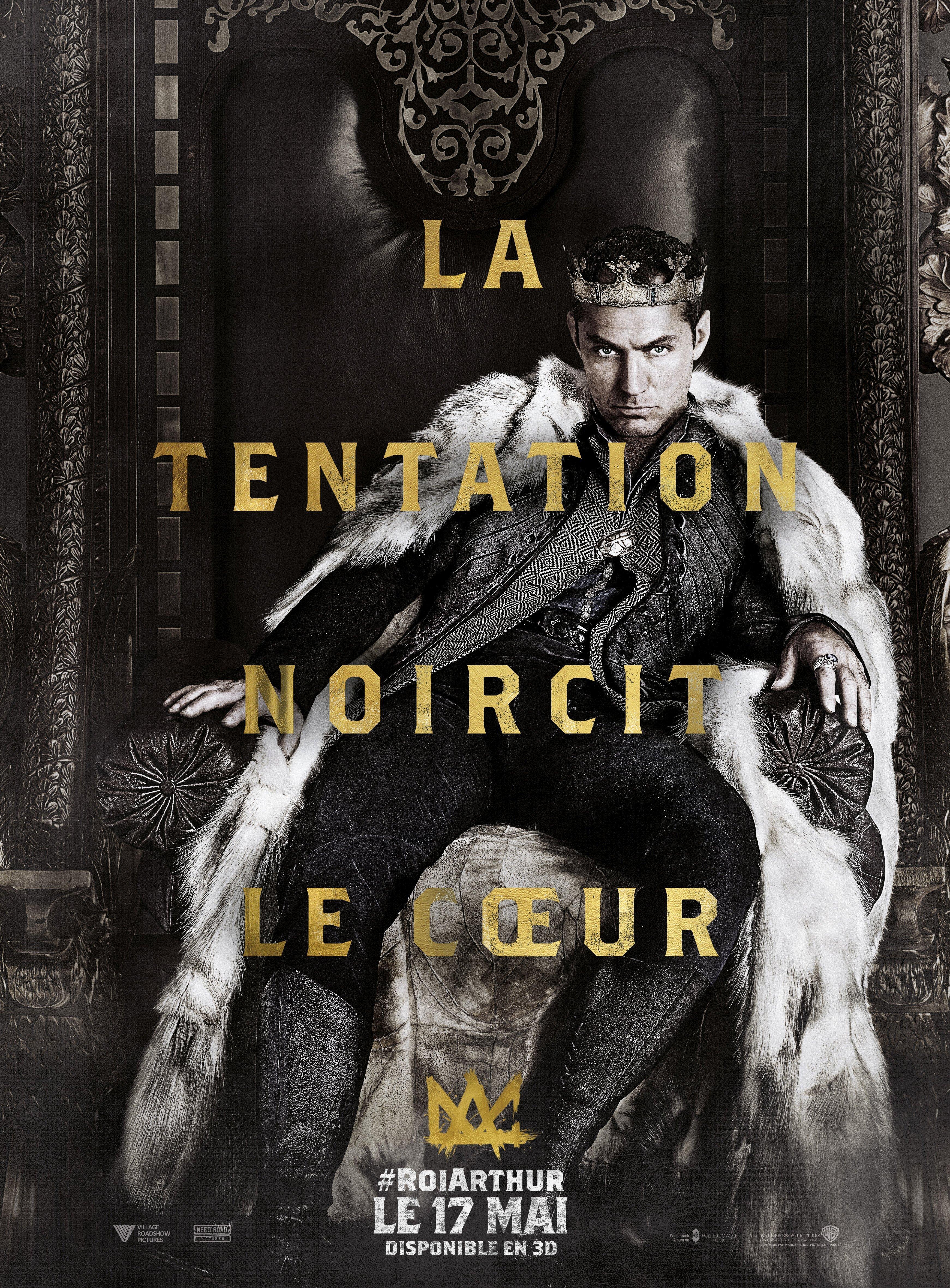 Affiche du fllm Le Roi Arthur: La Légende d'Excalibur avec Jude Law
