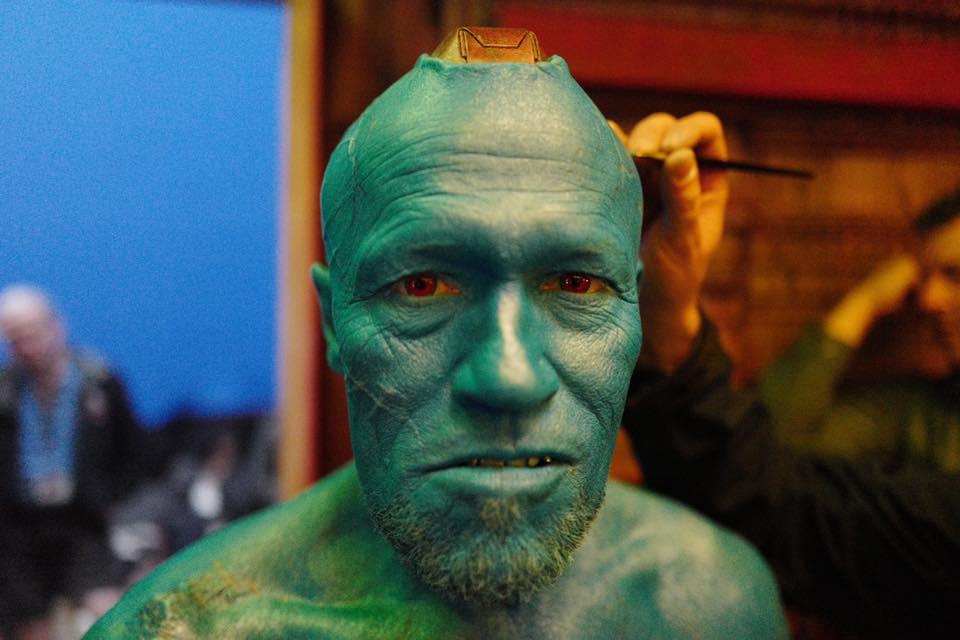 Les Gardiens Galaxie Vol Michael Rooker Yondu Maquillage Chris Bradley