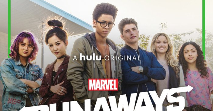 Photo du casting au complet des Runaways, série Marvel et Hulu