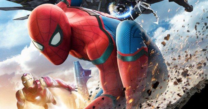 Poster de Spider-Man: Homecoming avec Iron Man et le Vautour