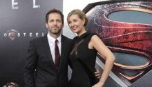 Photo de Zack et Deborah Snyder durant la promo de Man of Steel