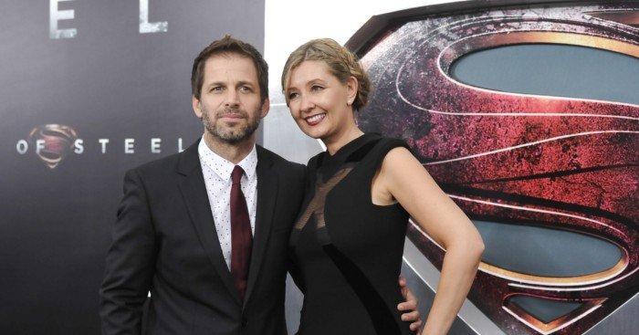 Photo de Zack et Deborah Snyder durant la promo de Man of Steel