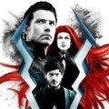 Affiche française de la série Inhumans avec Black Bolt, Medusa et Maximus