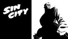 Image de Marv dans le comic de Frank Miller, Sin City