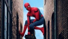 Poster de Spider-Man: Homecoming avec Spider-Man et son sac à dos