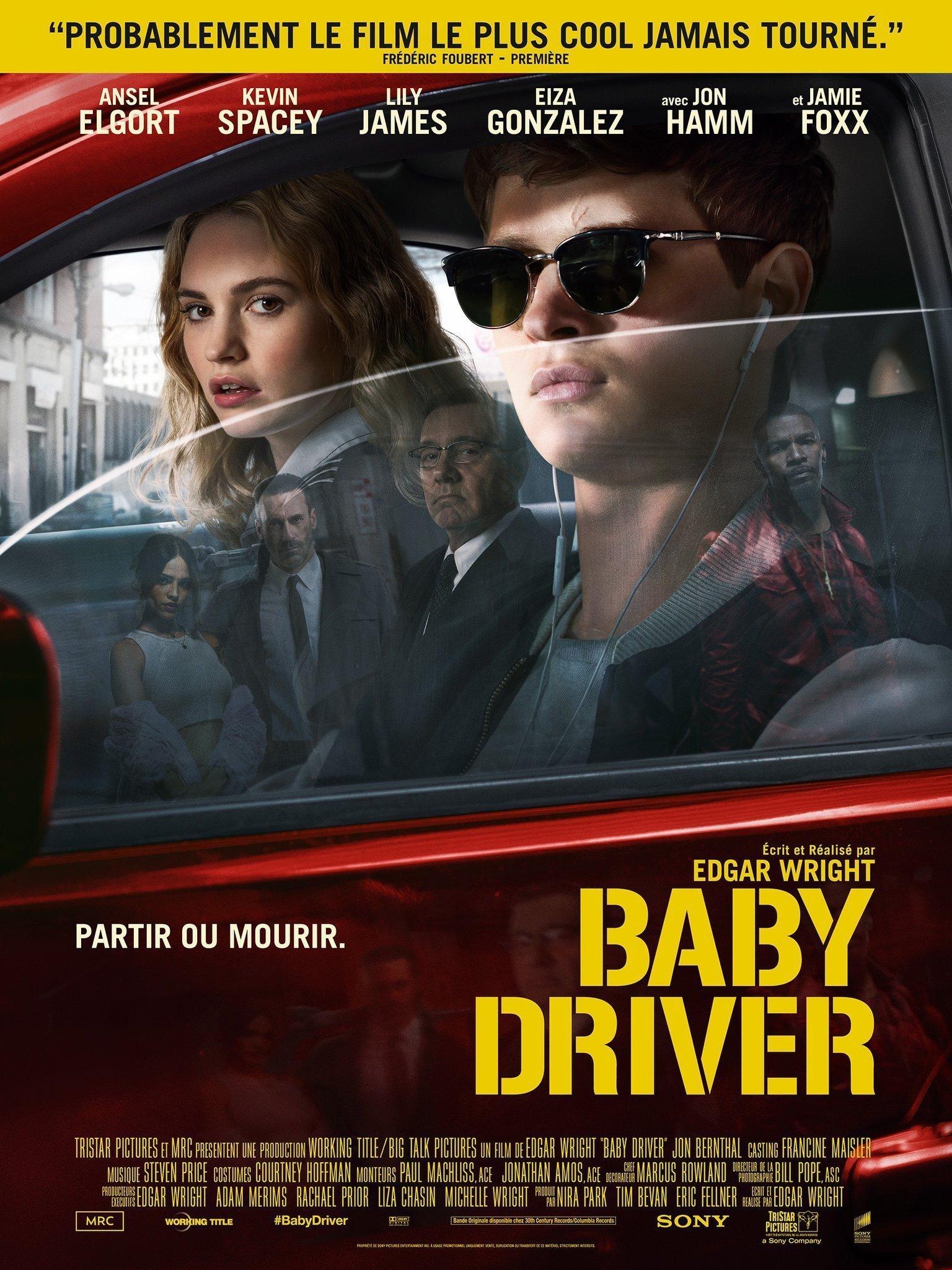Affiche française du film Baby Driver écrit et réalisé par Edgar Wright