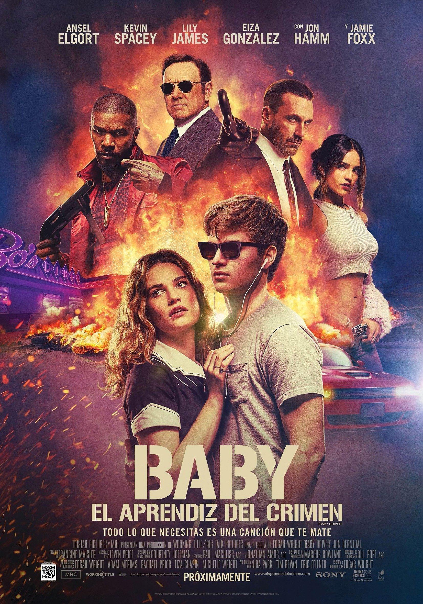 Poster mexicain du film Baby Driver écrit et réalisé par Edgar Wright