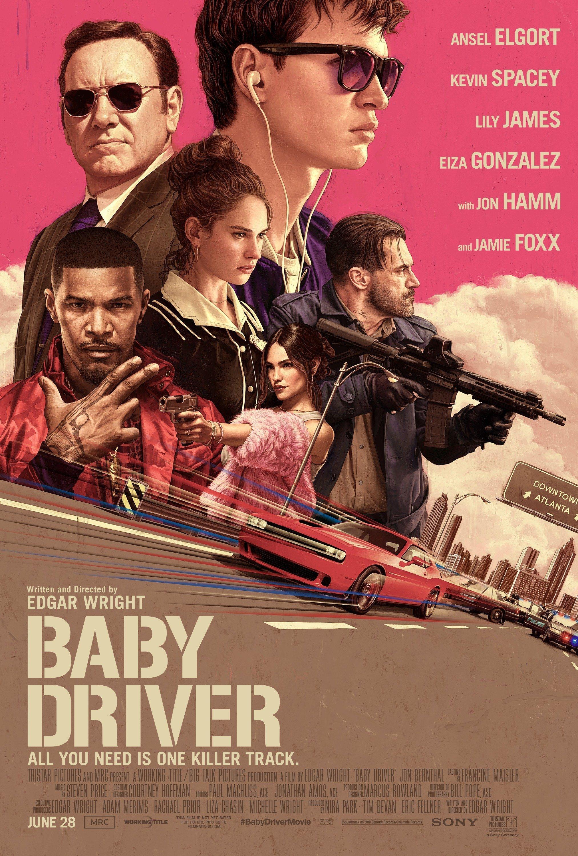 Poster du film Baby Driver écrit et réalisé par Edgar Wright