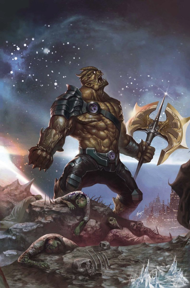 Couverture du numéro 2 d'Infinity Vol 1 (Generals Variant Textless) avec Black Dwarf