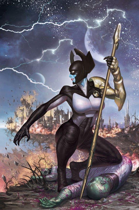 Couverture du numéro 5 d'Infinity Vol 1 (Generals Variant Textless) avec Proxima Midnight